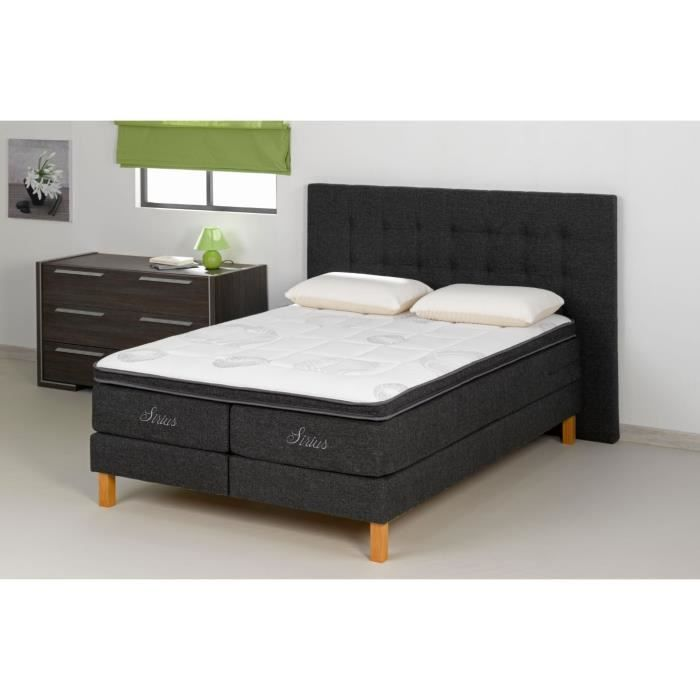 tete de lit 170 tissu anthracite grand standing. Black Bedroom Furniture Sets. Home Design Ideas