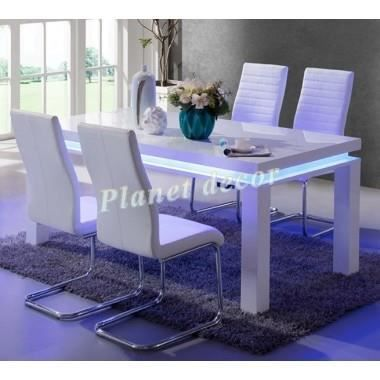 Ensemble table 4 chaises manger design ledia achat for Table a manger chaises