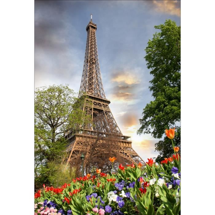 Stickers muraux d co tour eiffel dimensions 130x190cm achat vente sti - Tour eiffel dimension ...