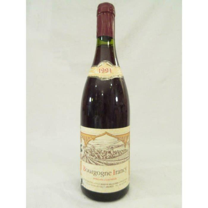 VIN ROUGE irancy roger delaloge rouge 1994 - bourgogne franc