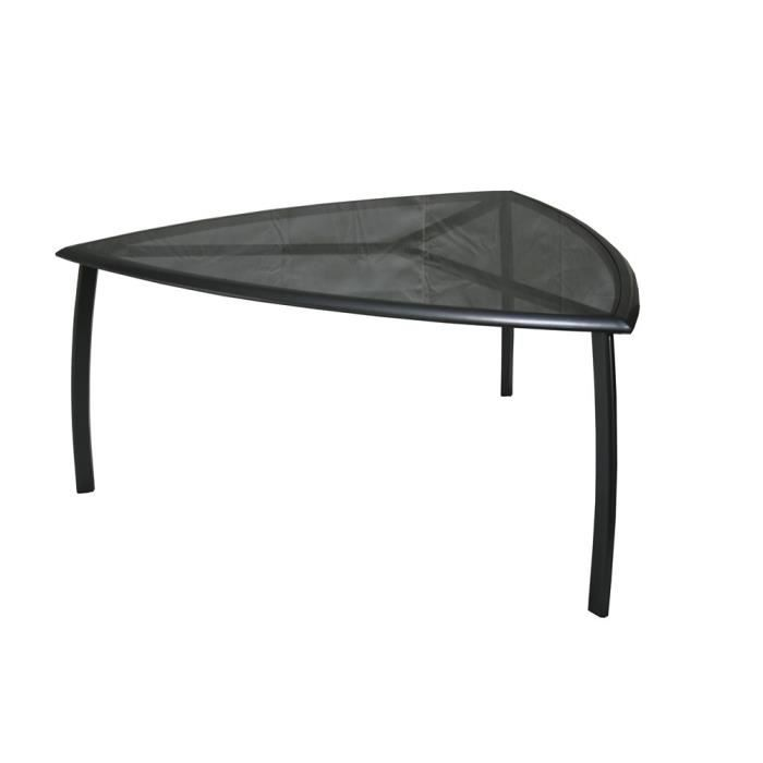 Table en alu avec plateau verre tremp triangle achat vente table de jard - Plateau de table en verre trempe ...