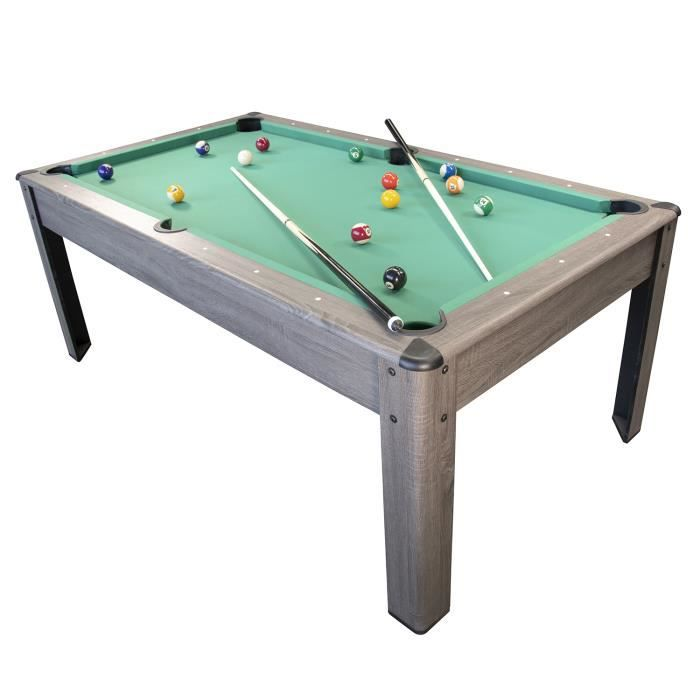 "Toyrific Power Play 27/"" Table Top Piscine Jeu avec queues de billard boules /& Craie NEUF"