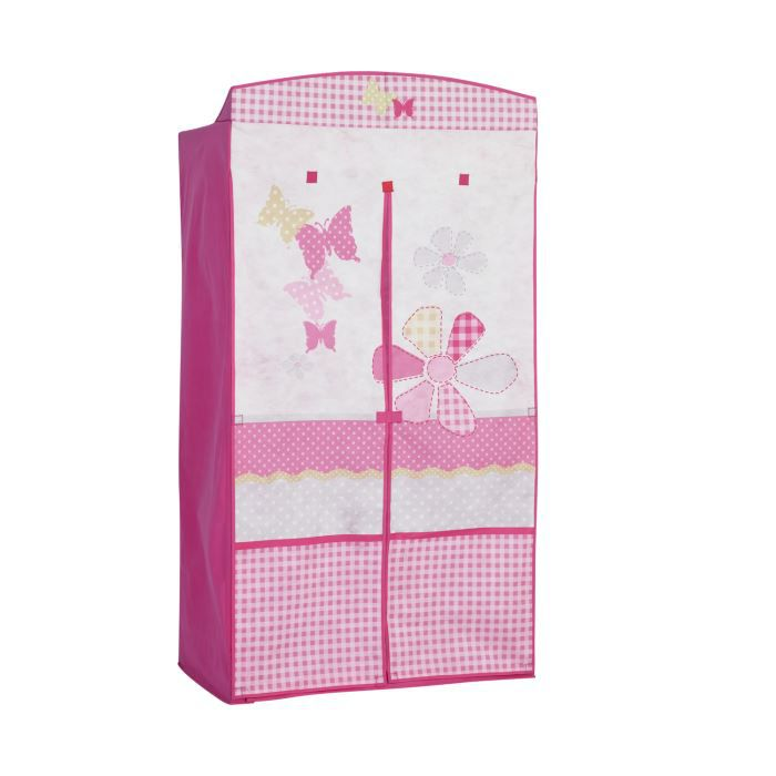 penderie enfant lili butterfly rose achat vente armoire 6037656389214 cdiscount. Black Bedroom Furniture Sets. Home Design Ideas
