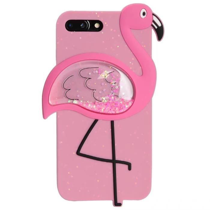 coque iphone 8 plus iphone 7 plus flamant rose flu
