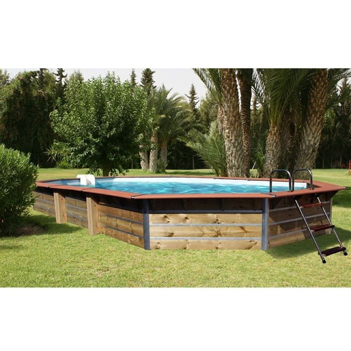 Piscine bois alu waterclip 680x370x129 premium achat for Piscine bois occasion