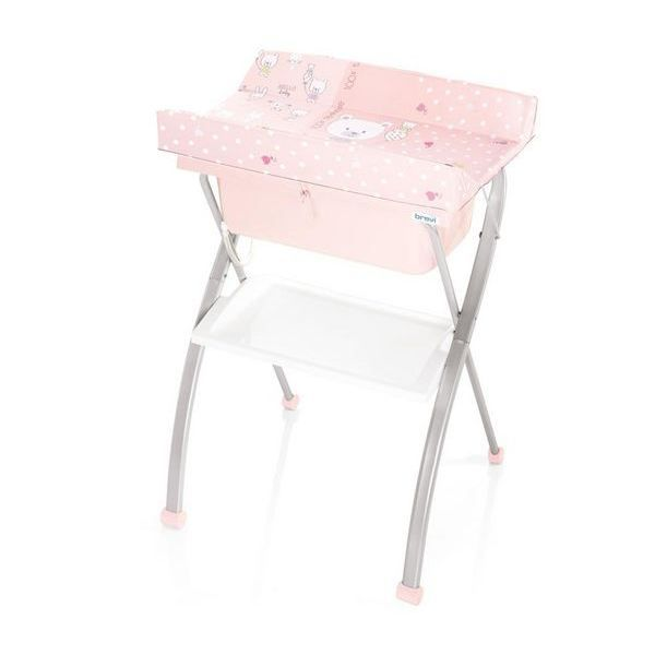 Table langer pliante lindo rose achat vente table for Table a langer rose
