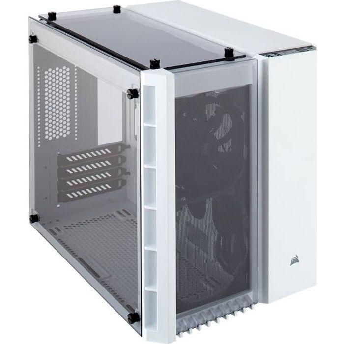 BOITIER PC  CORSAIR Boitier Micro PC ATX en verre trempé Cryst