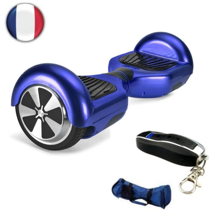 getek gyropode skate lectrique self balancing smart remote 6 5 inch bleu achat vente. Black Bedroom Furniture Sets. Home Design Ideas
