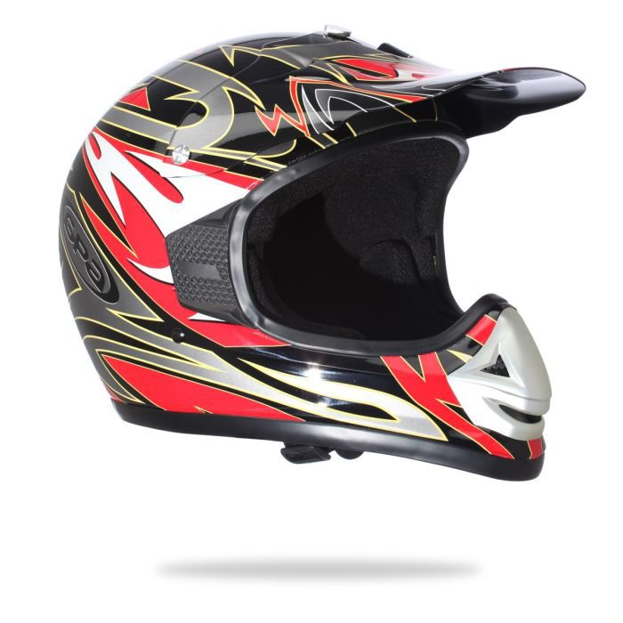 gpa casque cross slide noir rouge achat vente casque moto scooter gpa casque cross slide. Black Bedroom Furniture Sets. Home Design Ideas