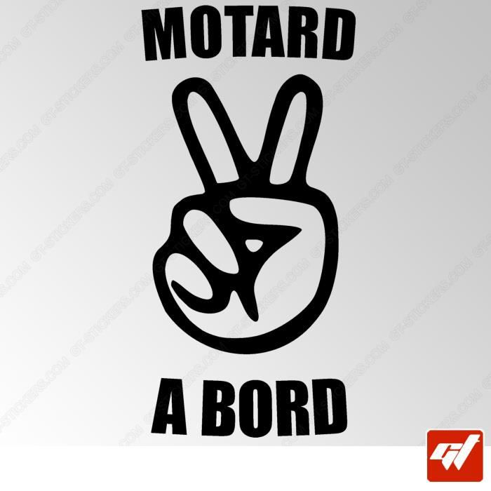 sticker autocollant MOTARDE A BORD moto sportive motard a bord