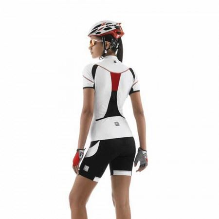 maillot de v lo femme santini fiery blanc blanc achat vente t shirt maillot de sport cdiscount. Black Bedroom Furniture Sets. Home Design Ideas