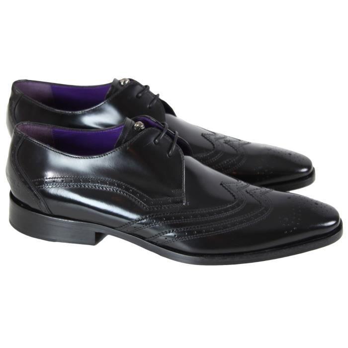 grande vente au rabais dans quelques jours les plus récents Chaussure en cuir Melvin & Hamilton Elvis 10 Noir Noir ...