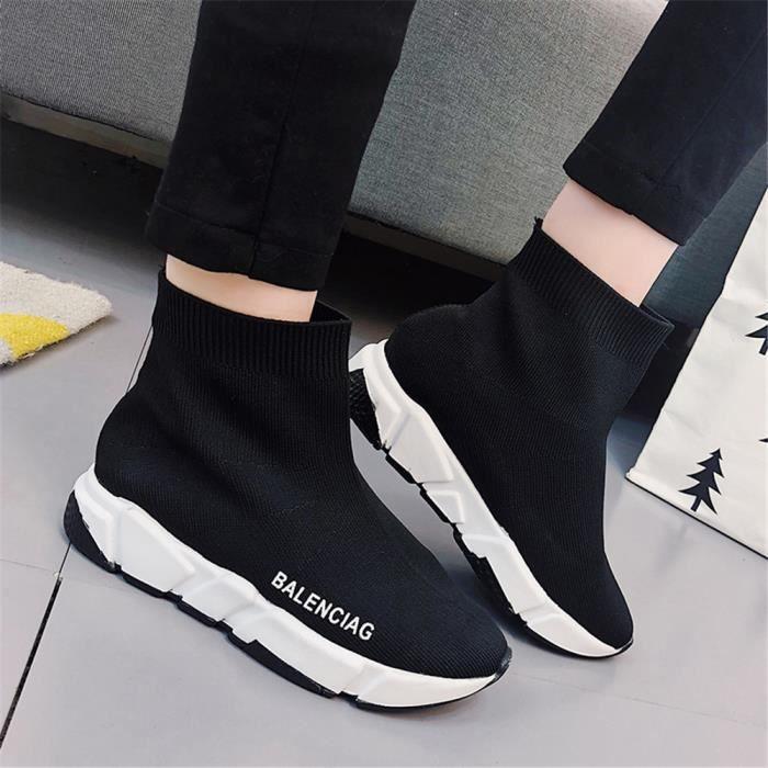 Sneakers Femme Marque De Luxe Loisirs Chaussure Durable Classique