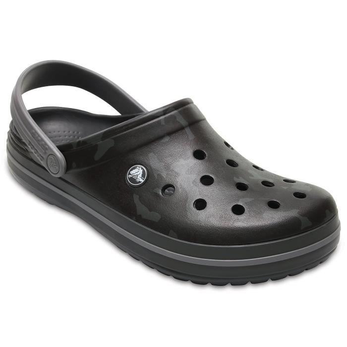 Crocs Women s Crocband Camo Ii Clog In Grey RUGSX Taille-42 Noir ... 0acfd915365