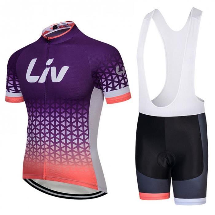 Femmes Cyclisme ensembles équipe vélo à manches courtes Jersey Short Élastique respirant Kits