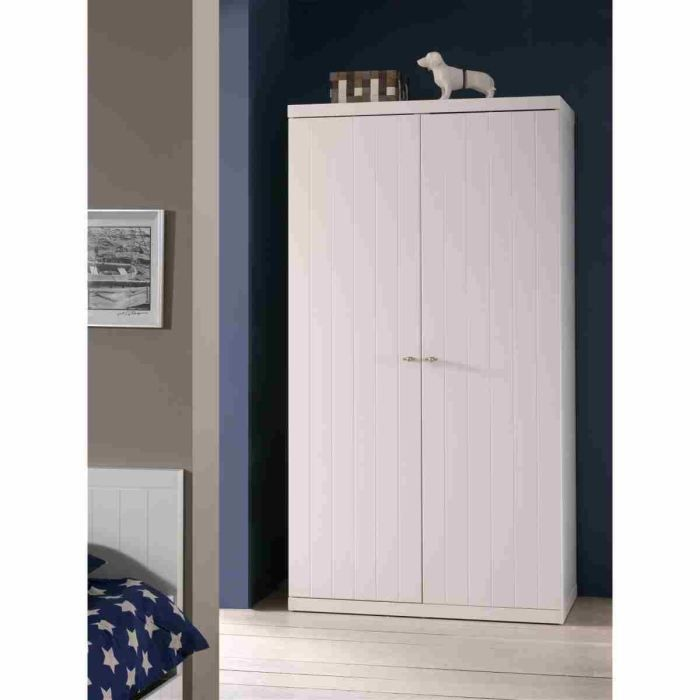 robin armoire 2 portes laqu e blanche achat vente. Black Bedroom Furniture Sets. Home Design Ideas