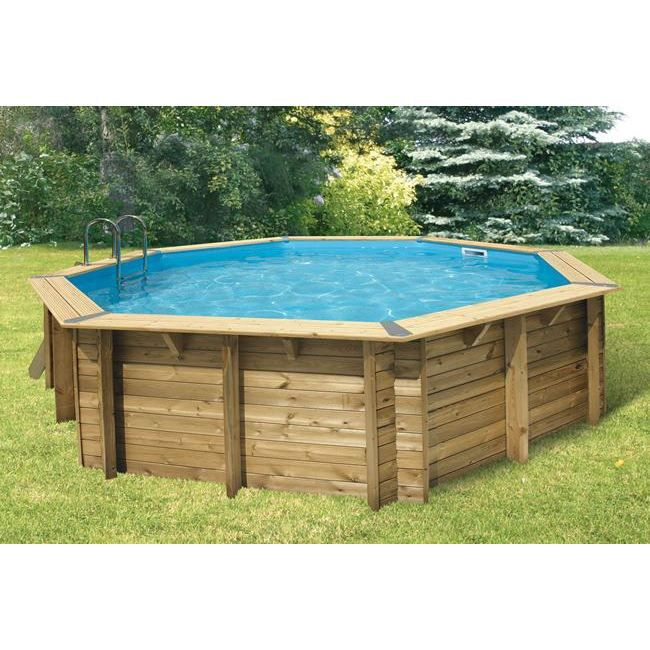 grande piscine hors sol en bois de forme rectangulaire semi enterr e pictures to pin on pinterest. Black Bedroom Furniture Sets. Home Design Ideas