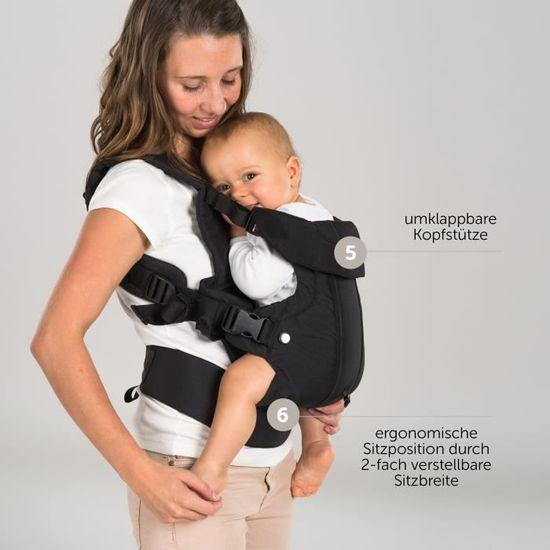 ventral r/églable 3,5 /à 15 kg Porte b/éb/é ergonomique // Multiposition 4 en 1 vue variable // /évolutif Pour nouveau-n/é et petit enfant dorsal