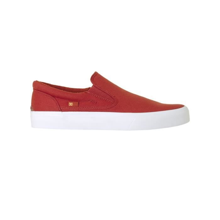 Chaussures Slip-on DC Trase TX Burnt Henna-Blanc