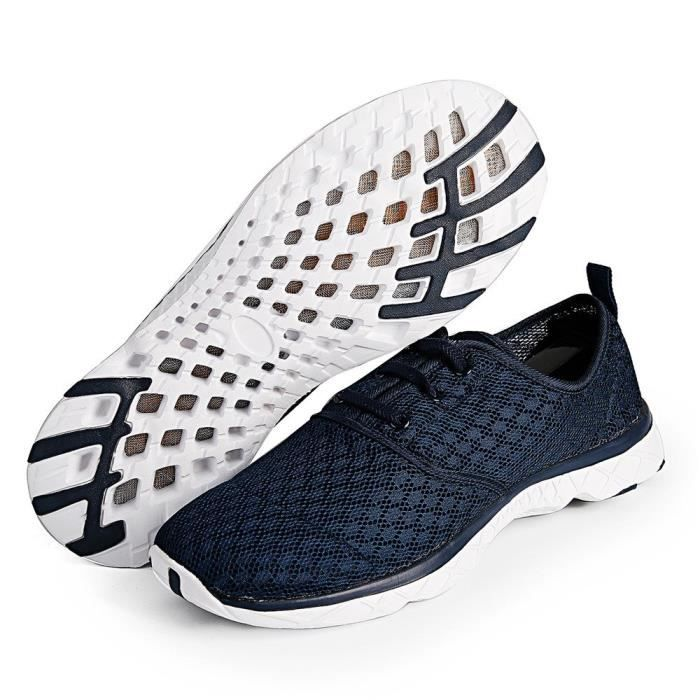 Water Shoes Mens Quick Drying Aqua Shoes Beach Pool Shoes Mesh Slip On IBVUL Taille-42 cQtKZ