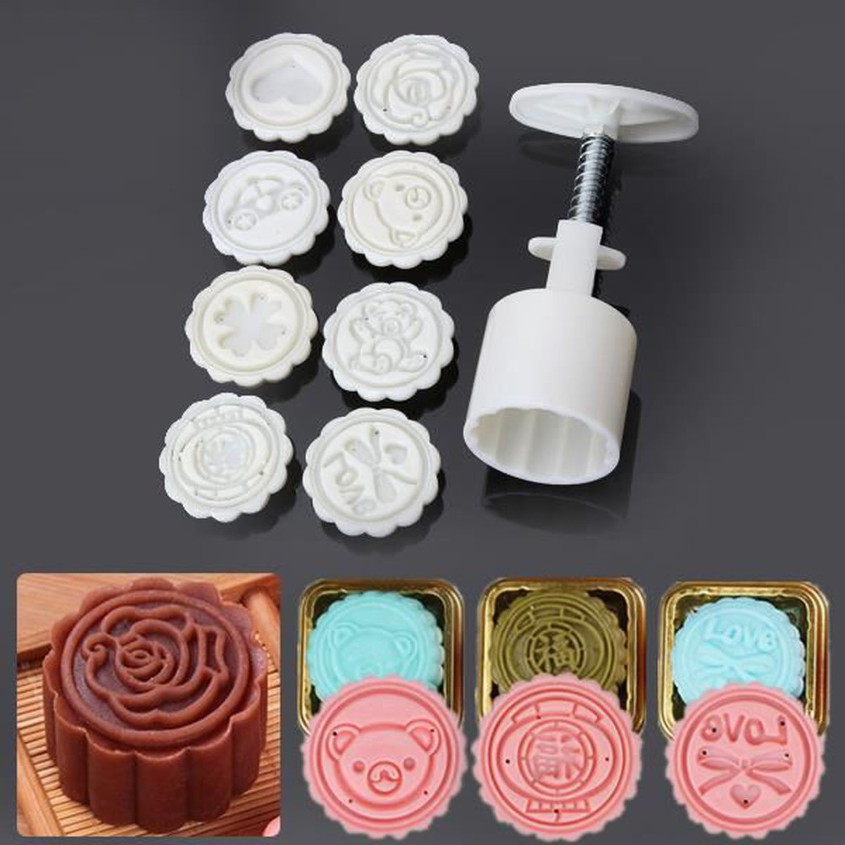 3 Nouvelle Forme Donut Cookies Cutter Pâtisserie Gâteau Cake Décoration Mold moule Outils