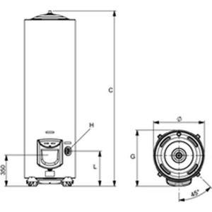 CHAUFFE-EAU ARISTON THERMO - Chauffe-eau électrique 250 litres