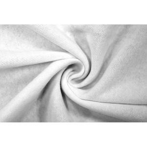 TISSU Tissu Molleton Terry Blanc -Coupon de 3 mètres