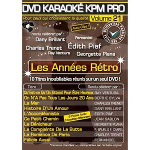 DVD MUSICAL DVD Karaoké KPM Pro Vol.21 Les Années Rétro