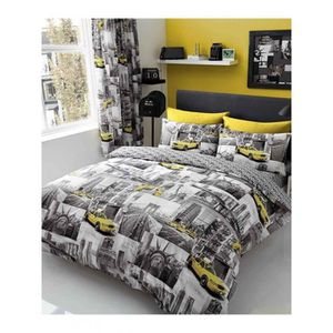 new york housse couette achat vente new york housse couette pas cher cdiscount. Black Bedroom Furniture Sets. Home Design Ideas