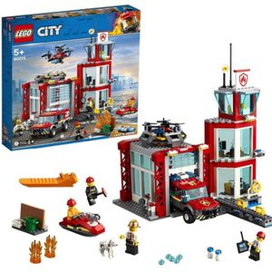 ASSEMBLAGE CONSTRUCTION LEGO® City 60215 La caserne de pompiers