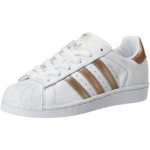 adidas superstar blanche bande argenté