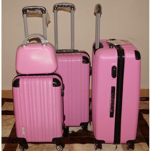SET DE VALISES Set 3 valises + Vanity, 8 roues pivotantes ROSE