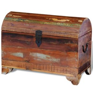 COFFRE - MALLE Coffre de stockage en bois solide recyclé