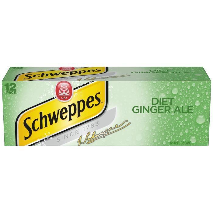 Schweppes Diet Ginger Ale-( 355 Ml X 12 Boîtes )