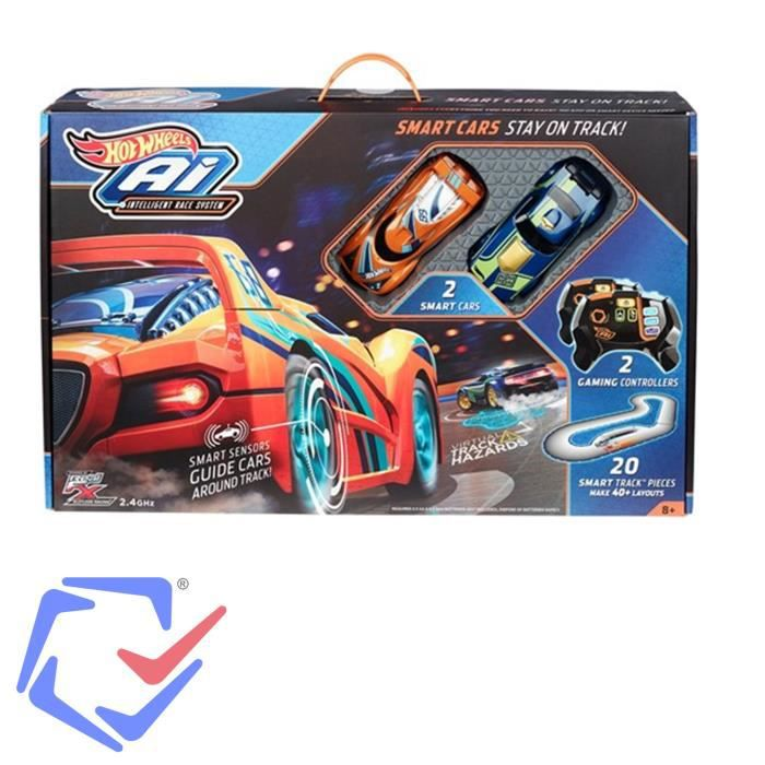 Circuit de course intelligent 2 voitures Hot Wheels AI FBL83