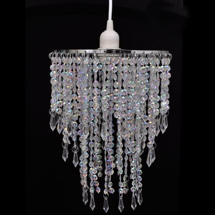 Lustre Suspension Plafonnier Luminaire Chambre suspendu en cristal 22,5 x 30,5 cm