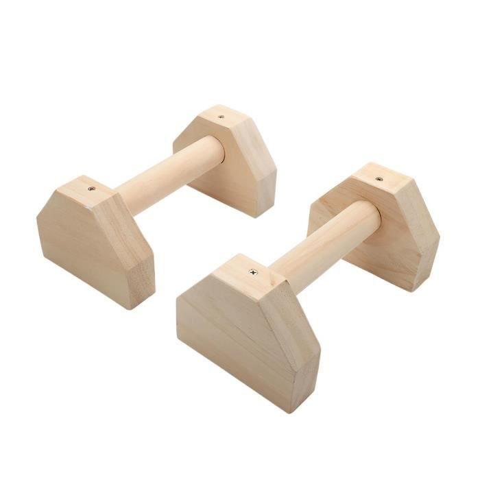 Supports de Fitness barres Sport gymnastique exercice entraînement poitrine H en forme de pin bois Ca - Modèle: WHITE -