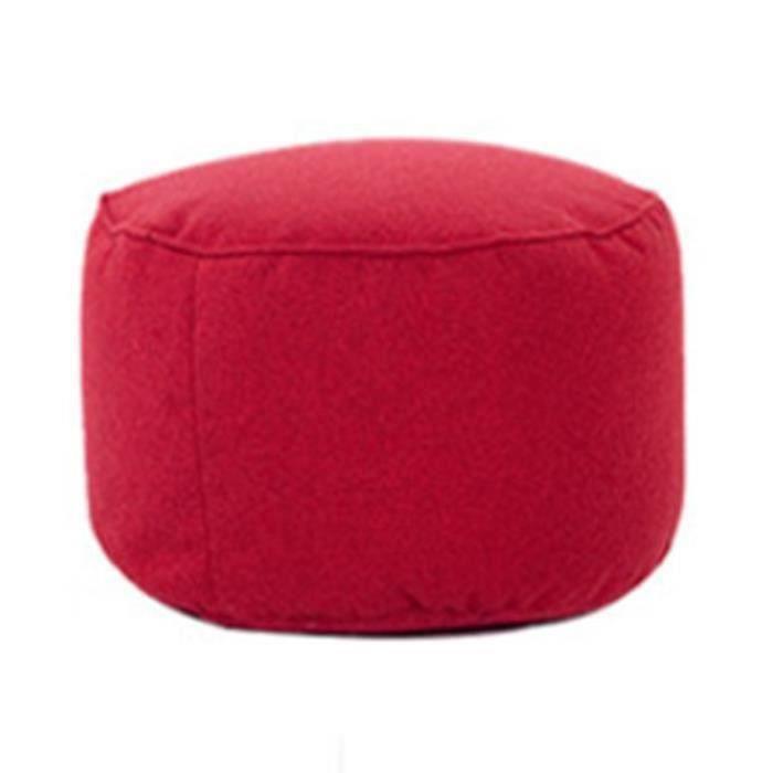 Pouf Canapé Tabouret Rond Couvrir Sacs De Fèves Paresseux de Sofa Coton Couverture Rouge Riche ma30114