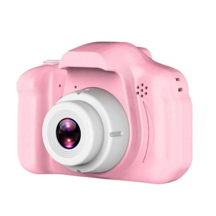 Appareil photo enfant,Appareil photo numérique pour enfants jouet X2 Hd Pixel dessin animé lapin ours Mini dessin animé - Type pink