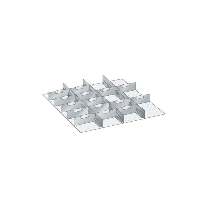 Paroi - pour dimensions armoire 717 x 725 mm - pour hauteur tiroirs 75 mm - accessoires accessoires pour armoires compartimentation