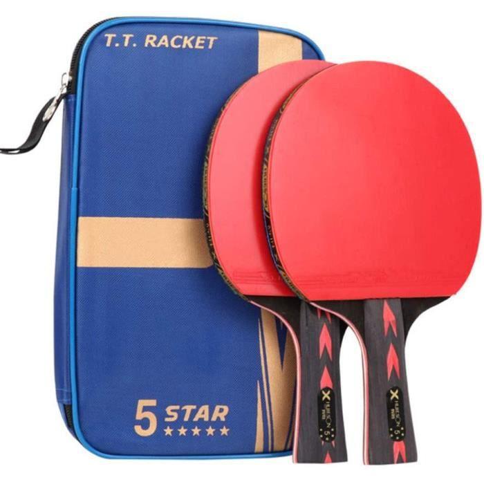 XGGYO Raquette de ping-pong Offensive, Adhésif inversé double face 5 étoiles, Adaptéà la Formation et à l'enseignement-Comme mon604