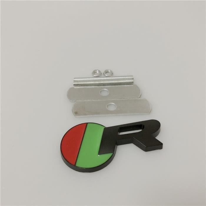 Décoration Véhicule,Logo de calandre en métal R S, 1 pièce, emblème pour Jaguar XJ XE XF S TYPE X TYPE F TYPE - Type R black