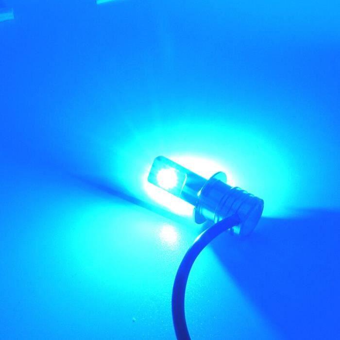 Couleur 8000K Blanc émettre Bleu lumens 1600Lm Socket H1 Les ampoules de phares de voiture LED avec puce DSP