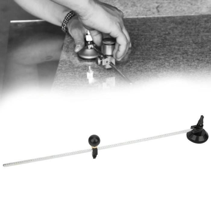 VBESTLIFE boussole coupe-verre Boussoles réglables de 50 cm de type coupe-cercle en verre outils de coupe circulaires avec ventouse