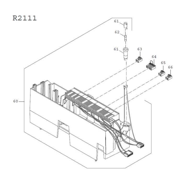 piece detachee genie thermique buderus 63032216 - module r2111 - appareil de régulation logamatic 2111