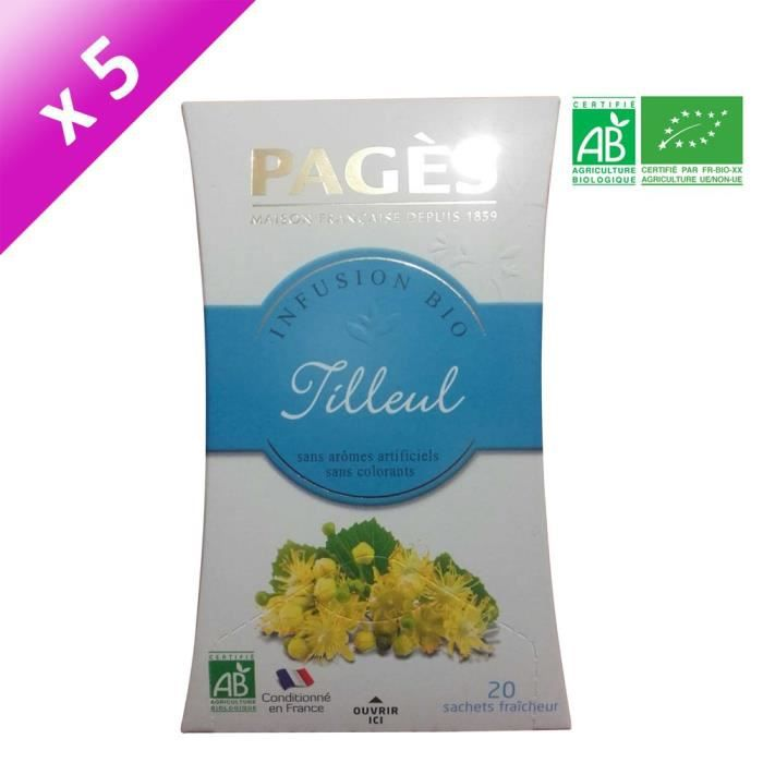 PAGES Lot de 5 Infusions Verveine Bio