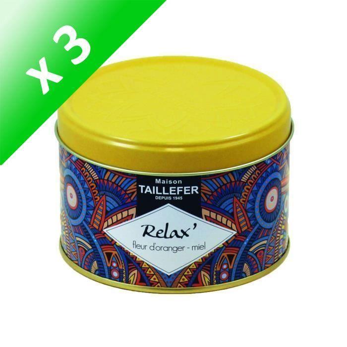 [LOT DE 3] MAISON TAILLEFER Infusion Relax - Boîte 80 g