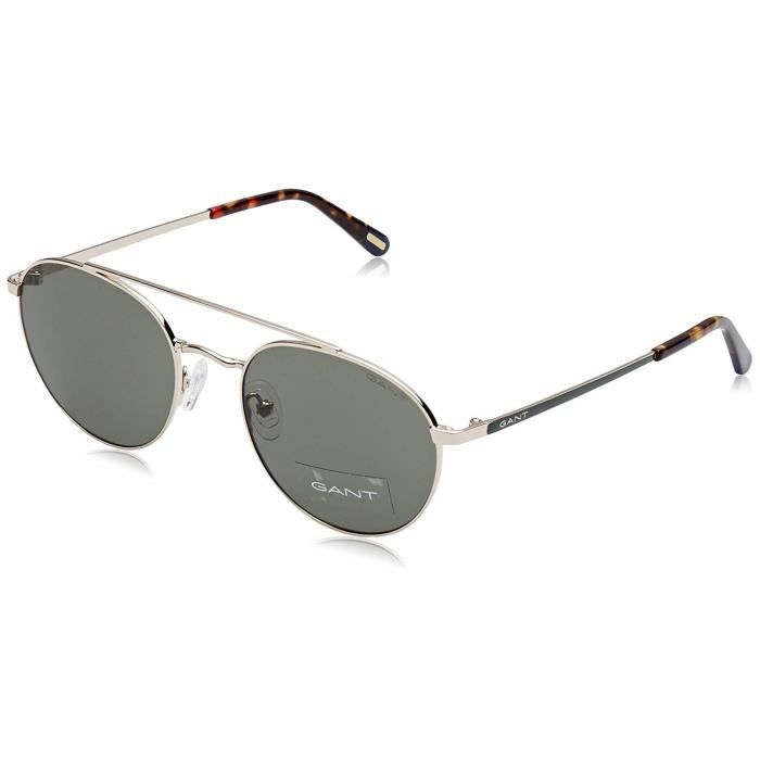 Gant GA7108 Montures de lunettes, Vert (Gold/Green), 53 Homme - GA7108 32N