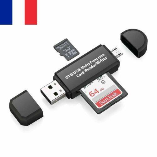 Pointez sur l'image pour zoomer Lecteur Adaptateur Carte Memoire Micro Sd Sdhc Mmc Tf Tflash Card Reader Usb 2 miniature 1 Lecteur
