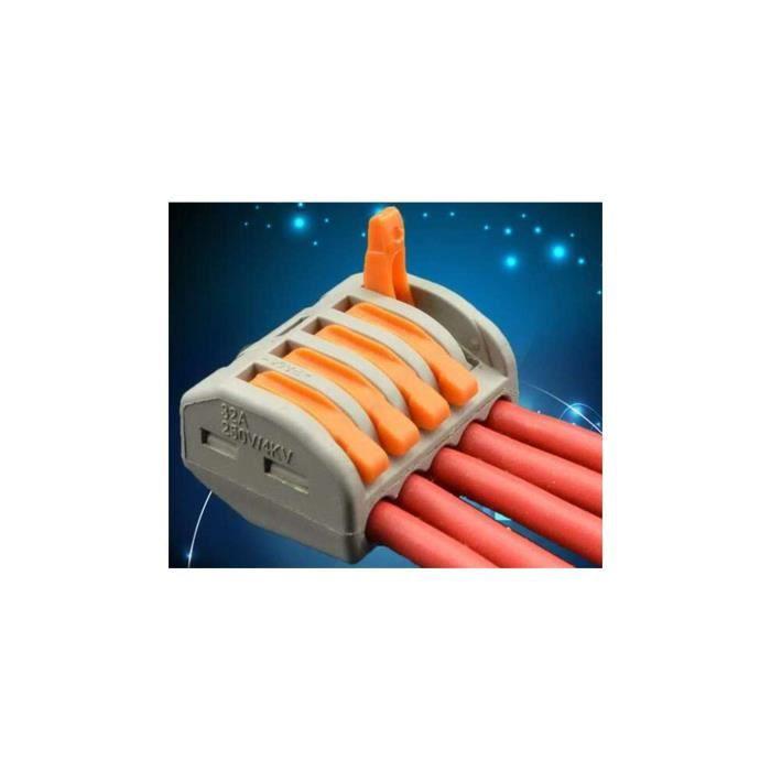 Borne de connexion électrique 5 fils type WAGO 222-5P